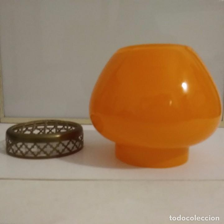 Antigüedades: Antiguo florero en opalina naranja - Foto 8 - 105574671