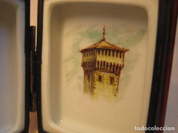 Antigüedades: CAJA DE PORCELANA DE LIMOGES PINTADA A MANO. LIBRO PEQUEÑO. APUNTES DE VITORIA - Foto 4 - 105587007