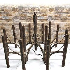 Antigüedades: LÁMPARA GEOMÉTRICA VINTAGE DE METAL. Lote 105598715