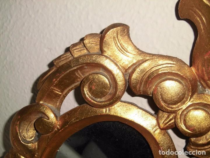 Antigüedades: PEQUEÑA CORNUCOPIA DE MADERA Y ESCAYOLA DORADA PEQUEÑO GOLPE VER FOTOS - Foto 5 - 105608103