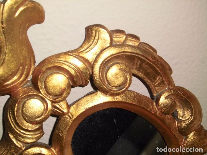 Antigüedades: PEQUEÑA CORNUCOPIA DE MADERA Y ESCAYOLA DORADA PEQUEÑO GOLPE VER FOTOS - Foto 6 - 105608103