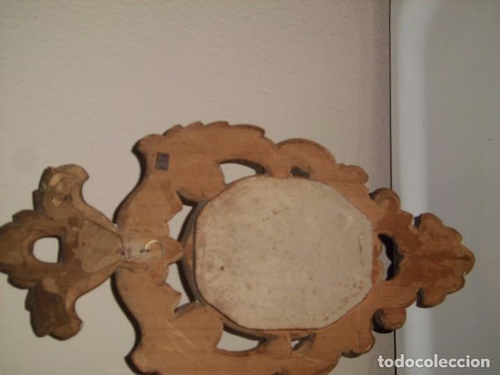 Antigüedades: PEQUEÑA CORNUCOPIA DE MADERA Y ESCAYOLA DORADA PEQUEÑO GOLPE VER FOTOS - Foto 10 - 105608103