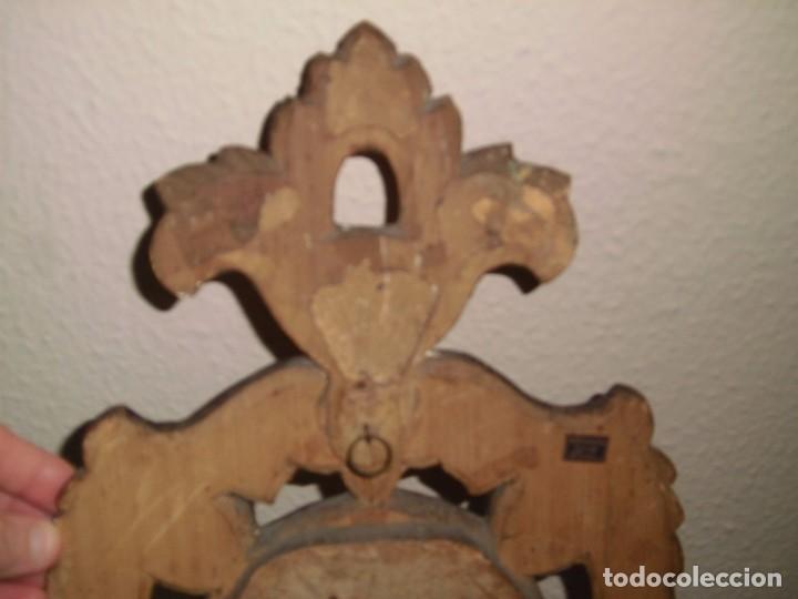 Antigüedades: PEQUEÑA CORNUCOPIA DE MADERA Y ESCAYOLA DORADA PEQUEÑO GOLPE VER FOTOS - Foto 11 - 105608103