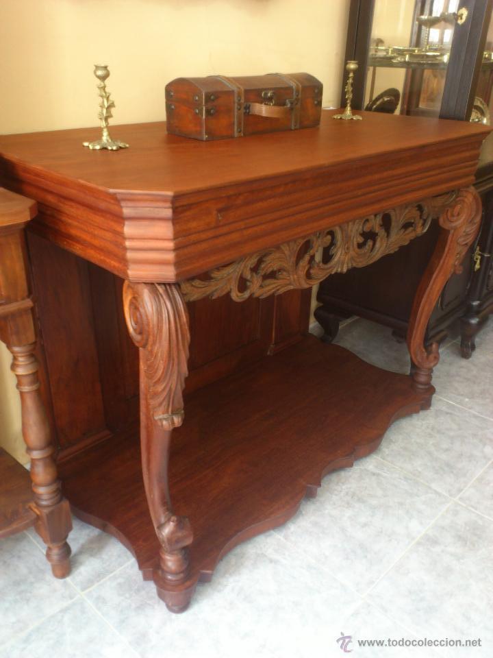 Antigua consola de caoba comprar consolas antiguas en for Consolas antiguas muebles