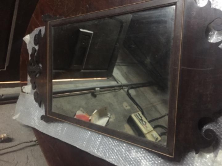 Antigüedades: Espejo de caoba del siglo XIX 107 x 59 cm - Foto 11 - 105620215
