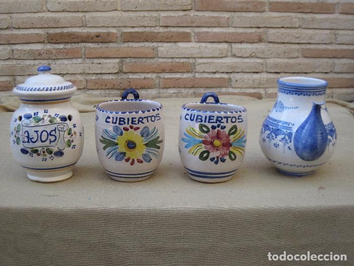 LOTE DE 4 PIEZAS DE CERAMICA DE TALAVERA DE LA REINA. (Antigüedades - Porcelanas y Cerámicas - Talavera)