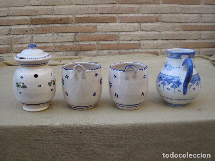 Antigüedades: LOTE DE 4 PIEZAS DE CERAMICA DE TALAVERA DE LA REINA. - Foto 2 - 105629515