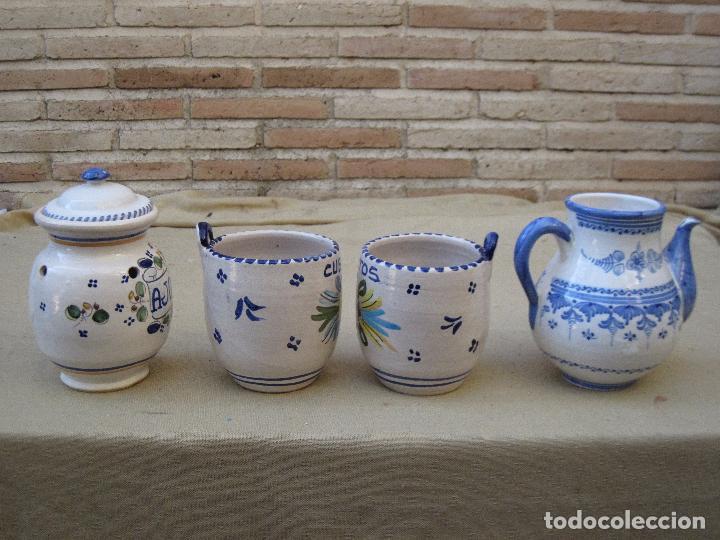 Antigüedades: LOTE DE 4 PIEZAS DE CERAMICA DE TALAVERA DE LA REINA. - Foto 3 - 105629515