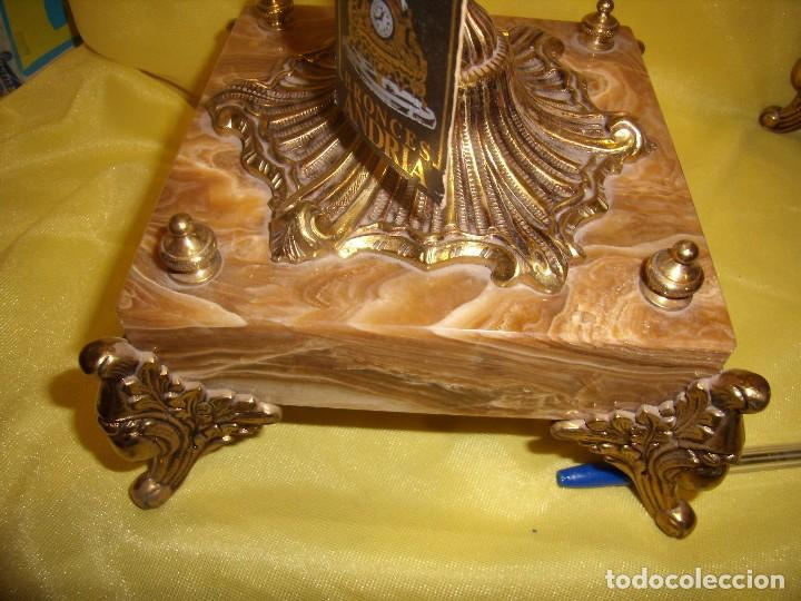 Antigüedades: Candelabros bronce chapado oro, baño de oro mármol, de Bronces Andria, años 70, Nuevos. - Foto 12 - 105669059
