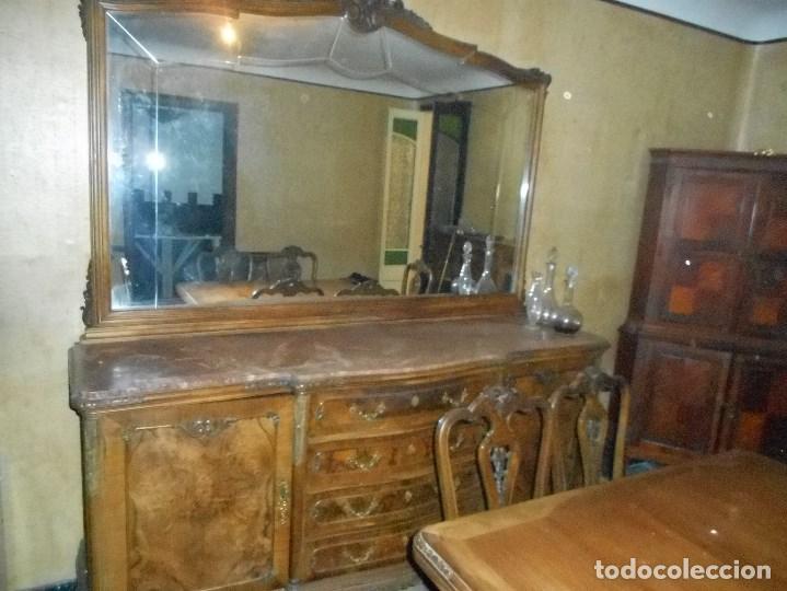 comedor antiguo completo gran espejo mueble bar - Comprar Aparadores ...