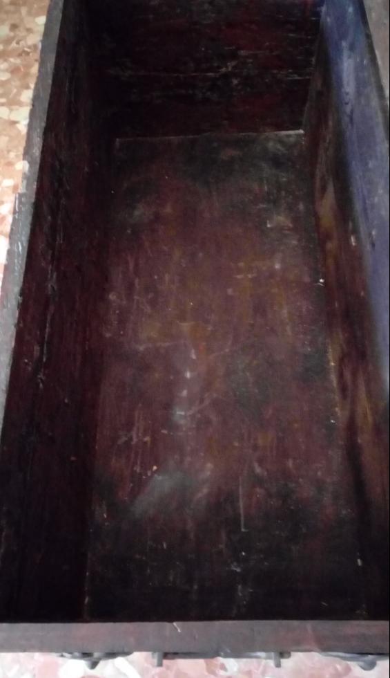 Antigüedades: BAÚL O ARCA S. XVII, EN MADERA DE NOGAL Y FORJA. DIM.- 112X51CMS Y 67 CMS ALTO - Foto 8 - 56540091
