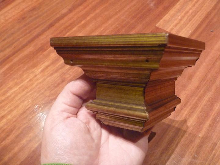 Antigüedades: Mensula peana madera escayola dorada para imagen MAS REGALO PEQUEÑA PEANA MADERA - Foto 11 - 105168023