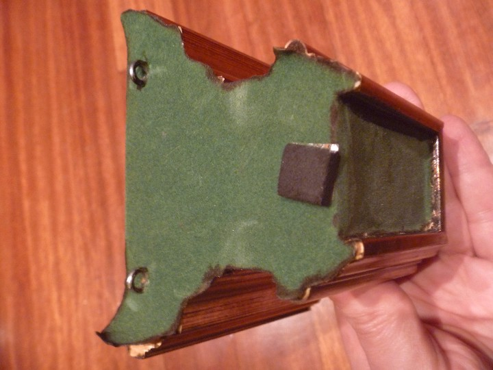 Antigüedades: Mensula peana madera escayola dorada para imagen MAS REGALO PEQUEÑA PEANA MADERA - Foto 13 - 105168023