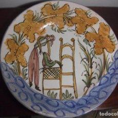 Antigüedades: PLATO CERAMICA FIRMADO LL. Lote 105692447