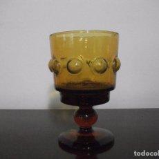 Antigüedades: COPA VIDRIO AMARILLO. Lote 105699515