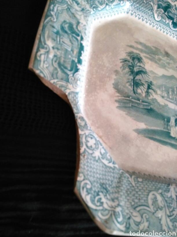 Antigüedades: Gran bandeja San Juan de Aznalfarache - Foto 8 - 105707562