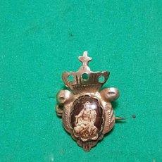Antigüedades: PRECIOSO Y ANTIGUO BROCHE CON IMAGEN DE LA VIRGEN PLATA DE.SG.XIX . Lote 105719951