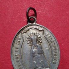 Antigüedades: MEDALLA DE LA VIRGEN DE LOS DESAMPARADOS Y EL SAGRADO CORAZÓN. 2,5 X 2,1 CM. Lote 105728407