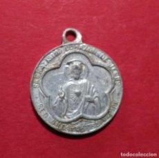 Antigüedades: MEDALLA DEL SAGRADO CORAZÓN DE JESÚS Y LA VIRGEN. 1,6 CM. DE DIAMETRO.. Lote 105729439
