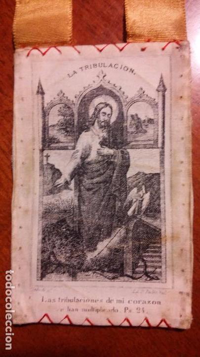 Antigüedades: Escapulario del Sagrado Corazón - Foto 2 - 105733939