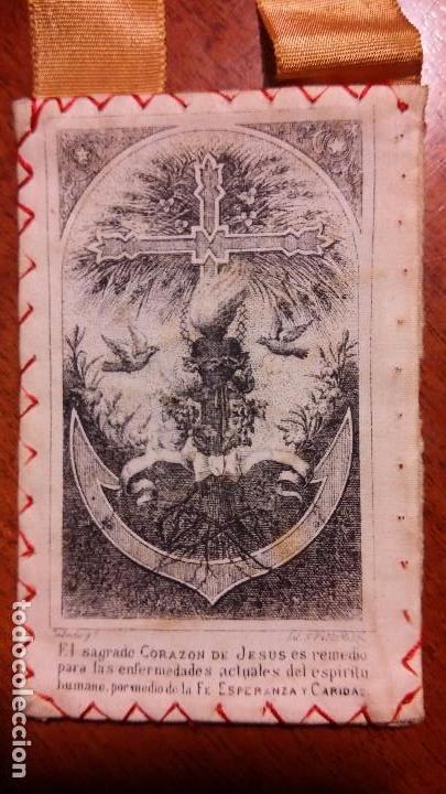 Antigüedades: Escapulario del Sagrado Corazón - Foto 3 - 105733939