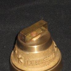 Antigüedades: CAMPANA BRONCE CON INSCRIPCION LA BOURBOULE.. Lote 105740363