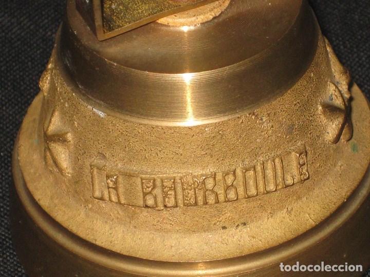 Antigüedades: Campana bronce con inscripcion la bourboule. - Foto 2 - 105740363