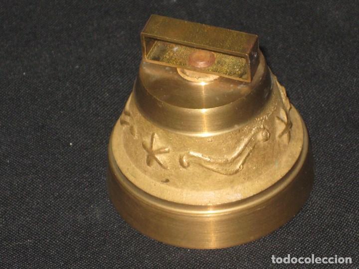 Antigüedades: Campana bronce con inscripcion la bourboule. - Foto 3 - 105740363