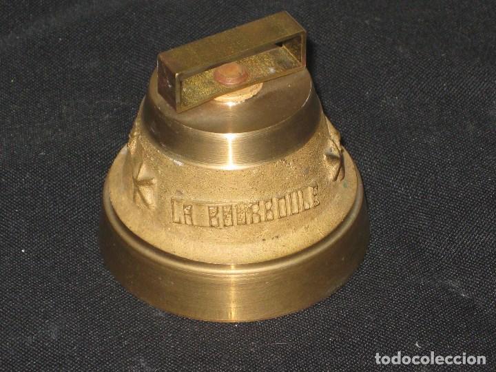 Antigüedades: Campana bronce con inscripcion la bourboule. - Foto 5 - 105740363
