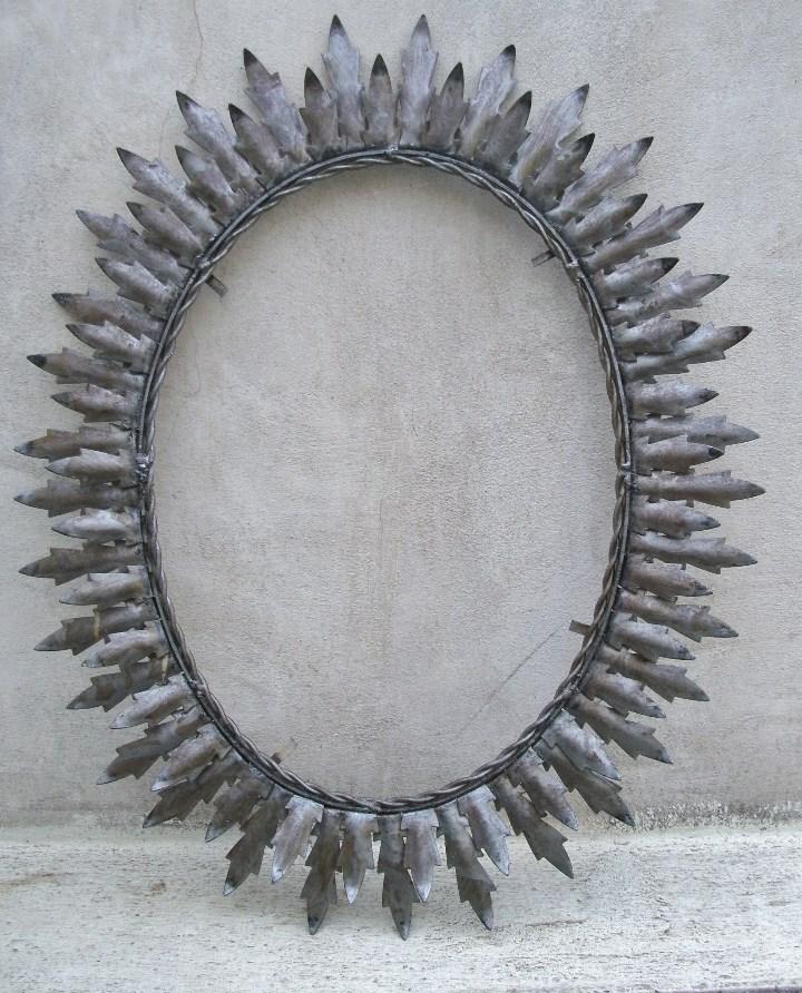 marco para espejo de hierro en forma de sol, co - Comprar Espejos ...