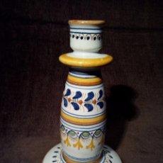 Antigüedades: TALAVERA PORTAVELAS DE CERAMICA EL CARMEN PERFECTO ESTADO. Lote 105761887
