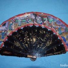 Antigüedades: ABANICO CHINO MIL CARAS. Lote 105767147