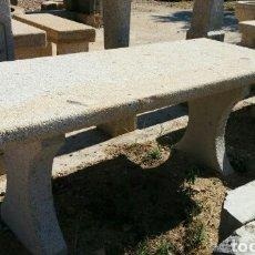 Antigüedades: MESA DE PIEDRA DE GRANITO PARA JARDIN MESA DE ALTAR IGLESIA. Lote 105769611