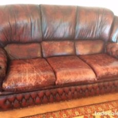 Antigüedades: CHESTERFIELD HIGH BACK 3 SEATER SOFA 1950S 60.. Lote 105778231