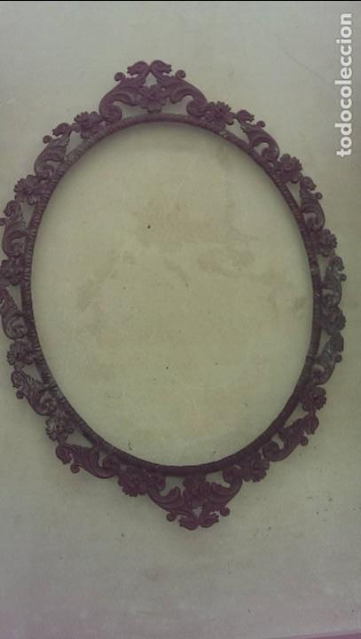 MARCO BRONCE MUY ANTIGUO PARA FOTO O CUADRO 24X30 COLECCION (Antigüedades - Hogar y Decoración - Marcos Antiguos)