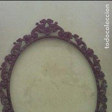 Antigüedades: MARCO BRONCE MUY ANTIGUO PARA FOTO O CUADRO 24X30 COLECCION. Lote 105782287