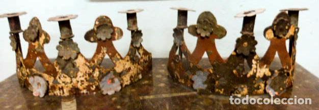 CANDELABROS DE HIERRO -S.XVIII (Antigüedades - Iluminación - Candelabros Antiguos)