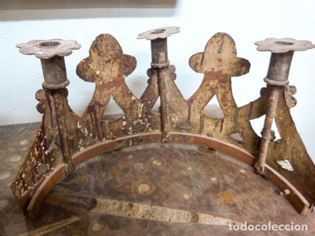 Antigüedades: Candelabros de hierro -s.XVIII - Foto 4 - 105800563