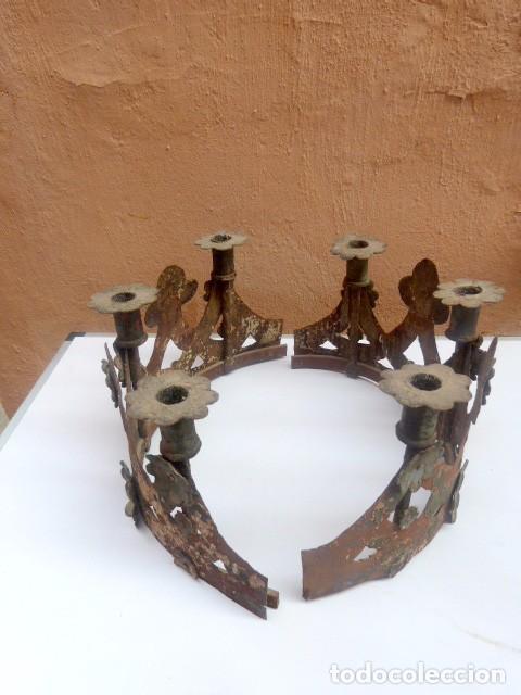 Antigüedades: Candelabros de hierro -s.XVIII - Foto 10 - 105800563