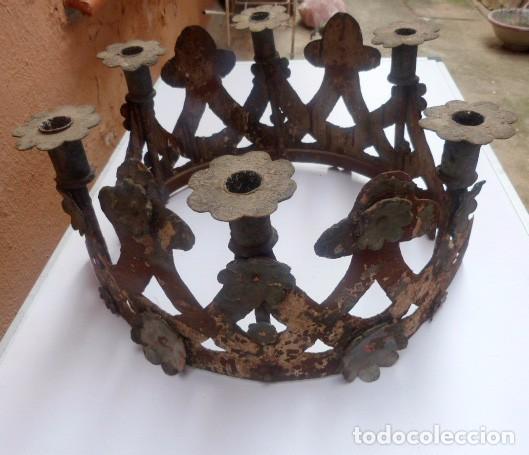 Antigüedades: Candelabros de hierro -s.XVIII - Foto 11 - 105800563