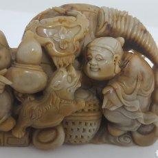 Antigüedades: JADE VERDE DE BIRMANIA. Lote 105834390