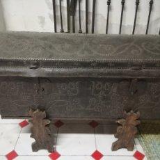 Antigüedades: BAUL SIGLO XVII DE DILIGENCIA. Lote 41061431