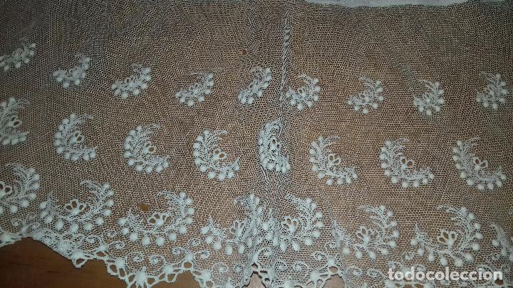 Antigüedades: antiguo tul bordado encaje tocado de virgen o paño de altar semana santa gran tamaño 385 cm leer - Foto 18 - 105843115
