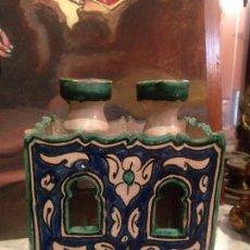 Antigüedades: ANTIGUO RECIPIENTE ÁRABE DE CERÁMICA . . Lote 105848407