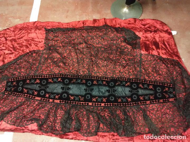 Antigüedades: Excepcional mantilla terno XIX - Foto 4 - 105849763