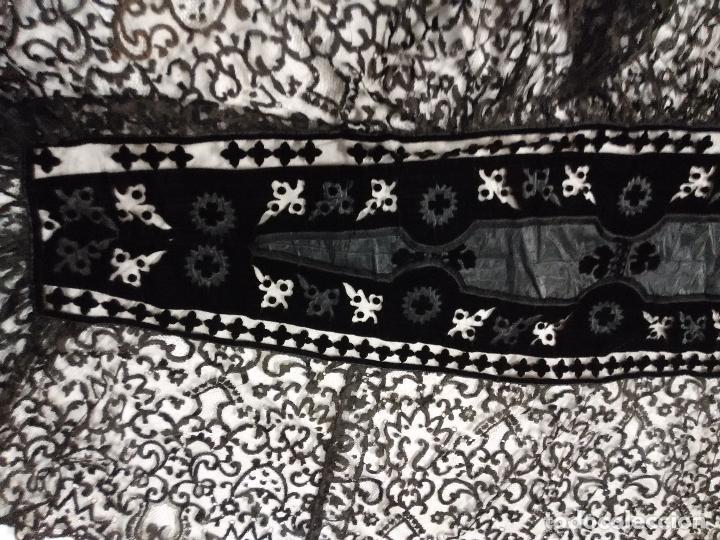 Antigüedades: Excepcional mantilla terno XIX - Foto 7 - 105849763