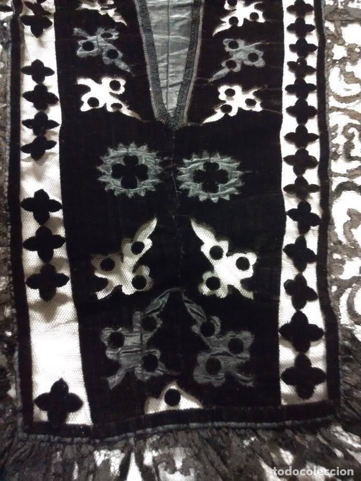 Antigüedades: Excepcional mantilla terno XIX - Foto 8 - 105849763