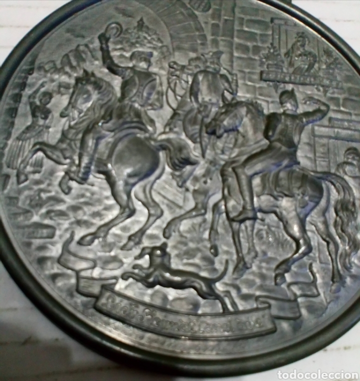 Antigüedades: MEDALLÓN ESTAÑO O PEWTER. MADE IN WESTERN GERMANY. LIEBE HEIMATLAND ADE. DE LA CONOCIDA MARCA: BMF - Foto 10 - 105853963