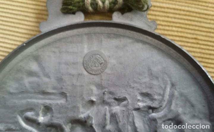 Antigüedades: MEDALLÓN ESTAÑO O PEWTER. MADE IN WESTERN GERMANY. LIEBE HEIMATLAND ADE. DE LA CONOCIDA MARCA: BMF - Foto 3 - 105853963
