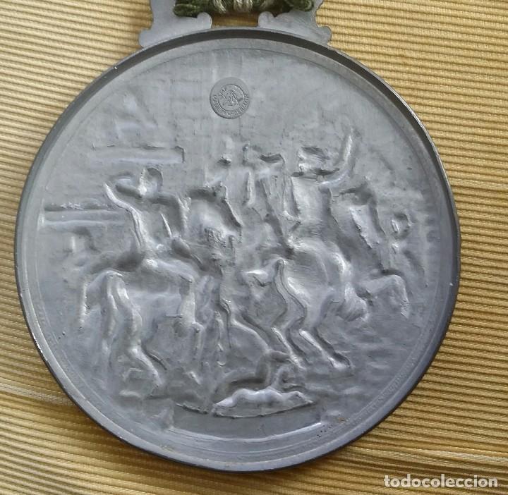 Antigüedades: MEDALLÓN ESTAÑO O PEWTER. MADE IN WESTERN GERMANY. LIEBE HEIMATLAND ADE. DE LA CONOCIDA MARCA: BMF - Foto 4 - 105853963